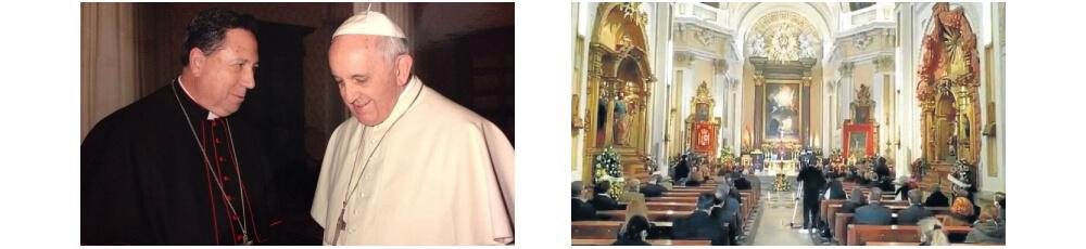 papa francisco y arzobispo castrense juan del rio